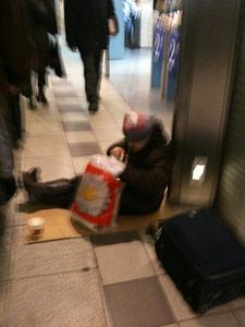 Sir, can you help me? I'm homeless