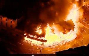 London Riots: Reeves furniture store is destroyed by fire
