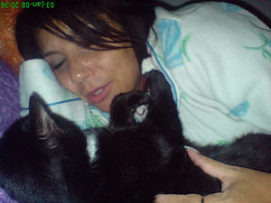 Me With One Of My Cats